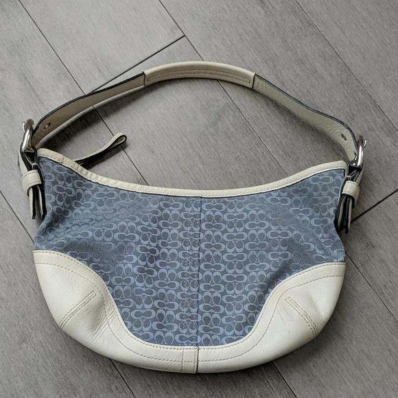 Coach Handbags - Coach blue and white bag